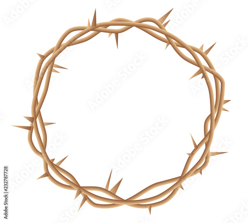 Stampa su Tela Crown of thorns vector illustration