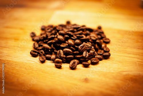 Fotografía  black coffee beans