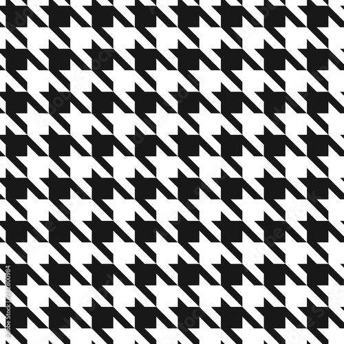 Photo  Classic dogstooth classic seamless vector pattern.
