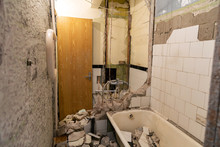 Old Bathroom Demolition Before...