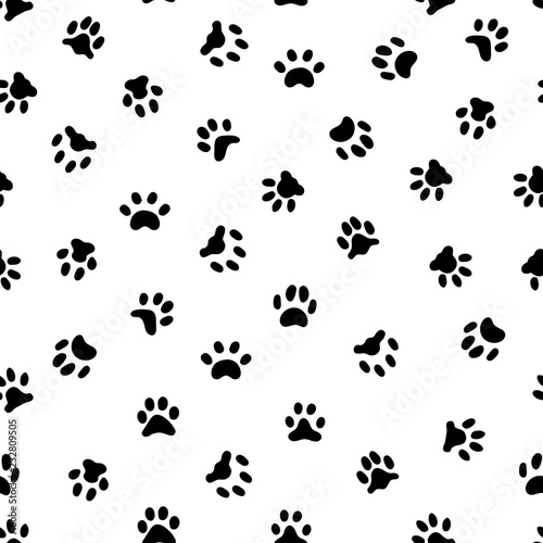 Cats paw print  Cat or dog paws footsteps prints, pets