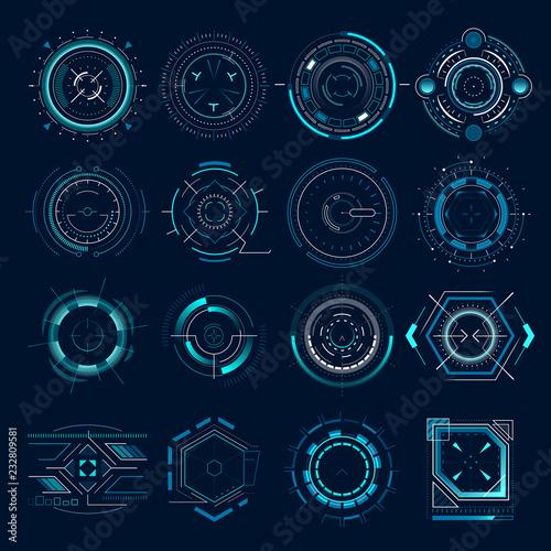 Futuristic optical aim Wallpaper Mural
