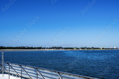 Fotografie, Obraz  Amazing view of the ocean and the city of Dar es Salaam from the ferry on a sunn