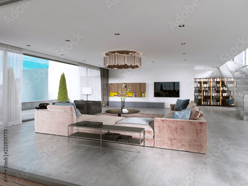 Large modern living room open space in a modern style. - Buy ...