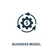 Business Model icon. Premium style design from startup icon collection. UI and UX. Pixel perfect Business Model icon for web design, apps, software, print usage.
