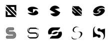 Set Of Letter S Logo. Icon Des...