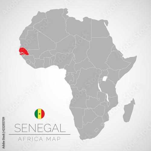 Map of Africa with the identication of Senegal. Map of ... Senegal Map on rwanda map, bangladesh map, seychelles map, morocco map, madagascar map, the gambia map, turkey map, tunisia map, namibia map, sudan map, benin map, algeria map, cameroon map, africa map, lesotho map, eritrea map, mali map, niger map, nigeria map, gabon map, malawi map, zimbabwe map, ethiopia map, ghana map, nepal on map, singapore map, denmark map, uganda map, dakar map, syria map, angola map, political map, guinea map, kenya map, mozambique map, tanzania map,