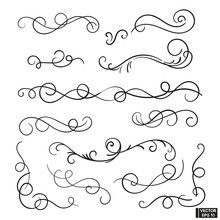 Set Of Curls And Scrolls