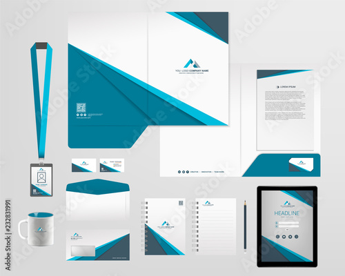 Fotomural corporate identity template