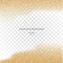 Sand On Transparent Background. Vector Eps 10.