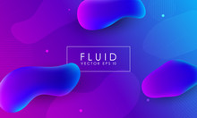 Abstract Background With Fluid Gradient 3d Shapes, Liquid Colors. Trendy Design. Vector Illustration Eps 10.