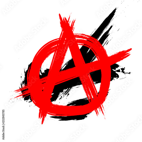 Anarchy Symbol trash-polka Tattoo template / Logo Wallpaper Mural
