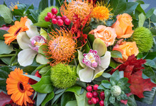 Luxury Bouquet Of Fresh Orange...