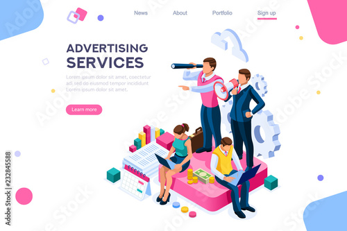 Advertisement, call for advertising Wallpaper Mural