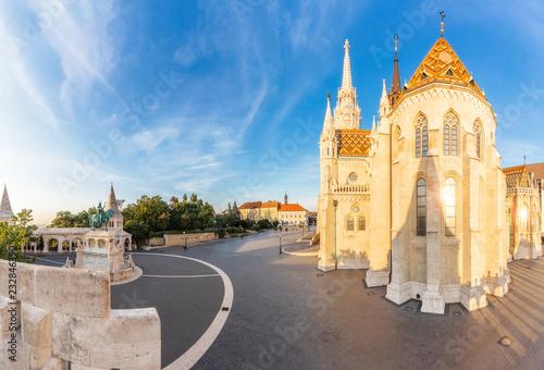 Papiers peints Con. ancienne Trinity Square and Matthias Church, Budapest