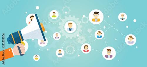Fotografiet Concept design marketing vector banner