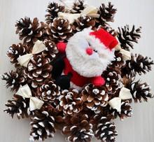New Year Wreath With Santa