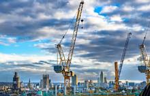 Cranes On Construction Site - London