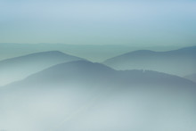 Misty Mountain Hills Landscape...