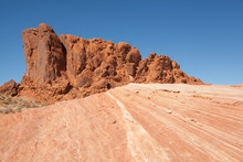 Fire Wave Rock Formation In Valley Of Fire National Park