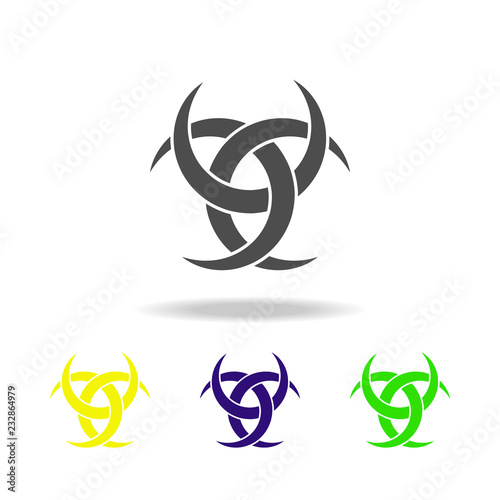 Photo  Paganism Odin horns sign multicolored icon