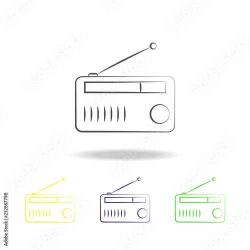 radio multicolored icons  Element of electrical devices multicolored