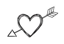 Heart And Arrow Shaped Tangled...