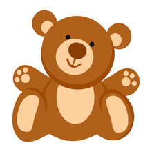 Soft Toy. Teddy Bear Line Icon...