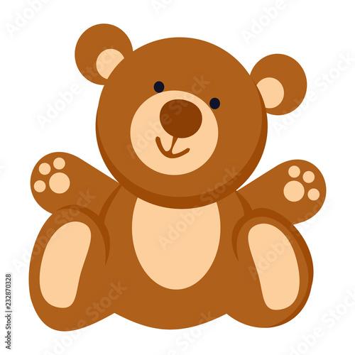Fototapeta Soft toy. Teddy bear line icon. Vector illustration. EPS 10. Toy.