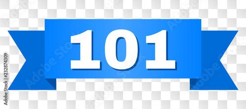 101 text on a ribbon Canvas Print