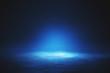 canvas print picture - Illuminated blue wallpaper
