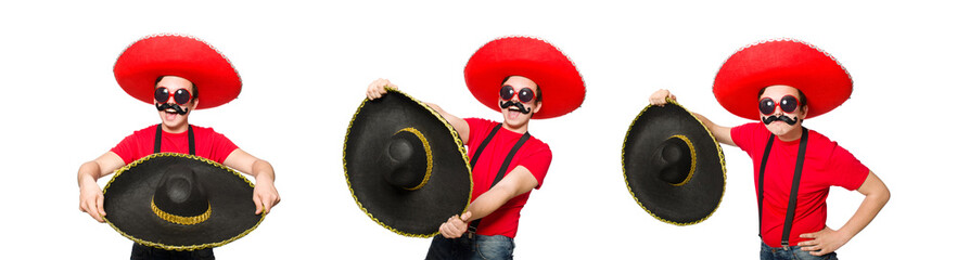 Fototapeta Funny mexican isolated on the white