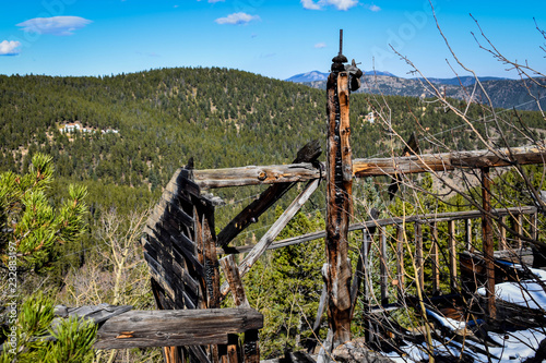 Abandoned mine  near Mt. Evans Canvas