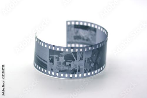 35 mm black and white film Canvas Print