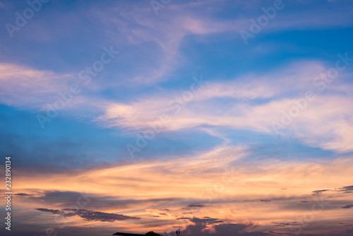Foto auf Gartenposter Nordlicht Evening sky at sunset in nature Asia.