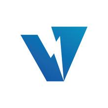 Letter V Volt Logo