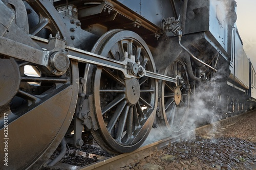 Fotografía Steam Locomotive Closeup