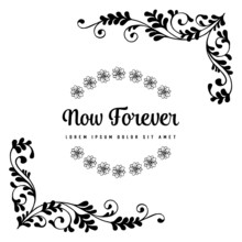 Hand Draw Vector Floral For Now Forever Card