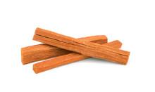 Sandalwood Sticks Isolated On White.