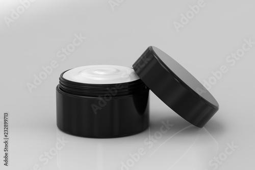 Obraz na plátně  cream in open pot