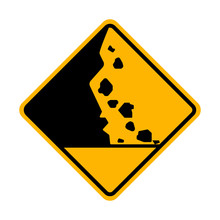 Beware Of Falling Rock Vector ...