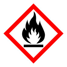 Standard Pictogam Of Flammable...