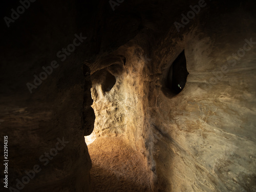 small grotto cave with textured walls