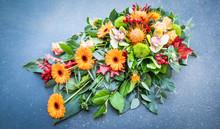Flower Arrangement. Grave Flowers.