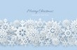 3d silver snowflakes decorated with beads, blue Christmas vector design