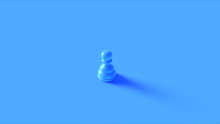 Blue Chess Pawn Piece 3d Illustration 3d Rendering