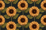 Printable seamless vintage autumn repeat pattern background with sunflowers. Botanical wallpaper, raster illustration in super High resolution. - 232920762