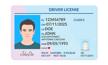 Driver License With Male Photo...