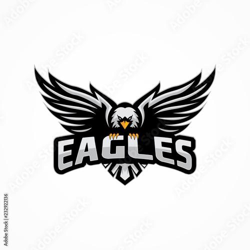 Tableau sur Toile sport eagle logo template