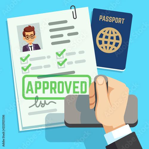Fotografie, Obraz Visa concept